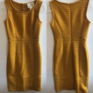 Tabitha Anthropologie mustard sheath dress Size 0